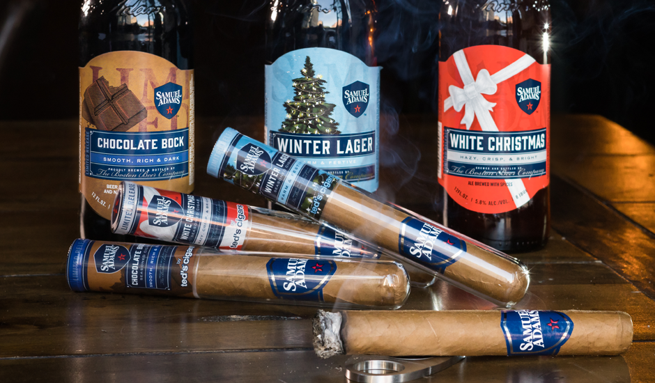 samuel adams teams up with teds cigars for beer infused cigars - White Christmas Sam Adams